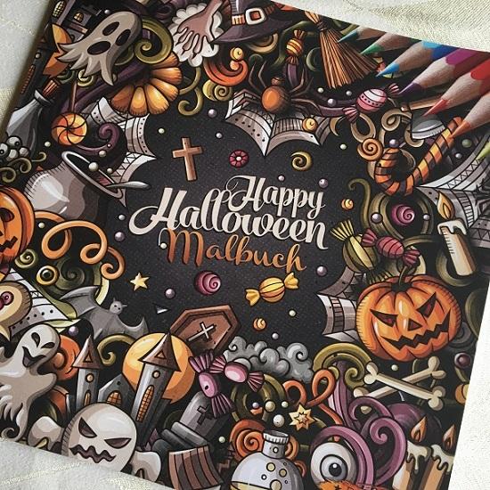 Happy Halloween mit BOSS Malbücher Cover Probenqueen