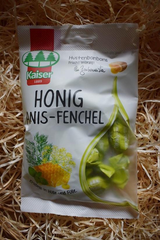 Brandnooz Box Oktober 2017 Bonbonmeister Kaier Honig-Anis-Fenchel Bonbons Probenqueen
