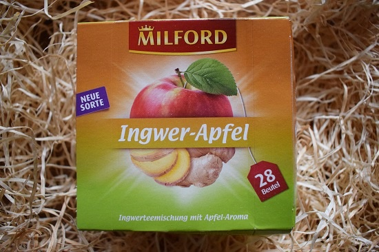 Brandnooz Box Oktober 2017 Milford Ingwer-Apfel-Tee Probenqueen
