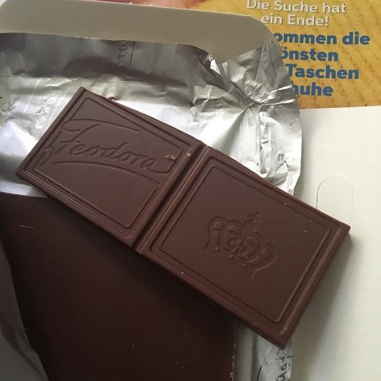 Feodora Sweet Dreams mit Freundin Trendlounge Schokoladenstückchen Probenqueen