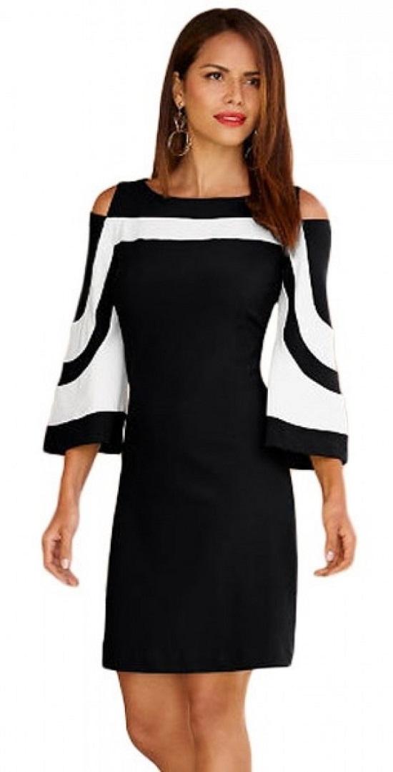 Elegrina-Minikleid-schwarz-weiß-Probenqueen