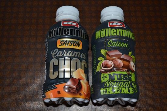 Brandnooz-Coolbox-Dezember Müllermilch Saison Caramel und NussNougat Probenqueen