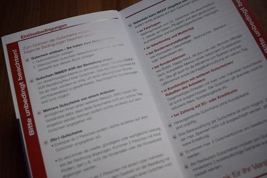 Gutscheinbuch Bochum & Umgebung Einlösebedingungen Probenqueen