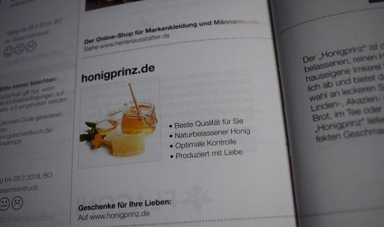 Gutscheinbuch Bochum & Umgebung Honigprinz.de Probenqueen