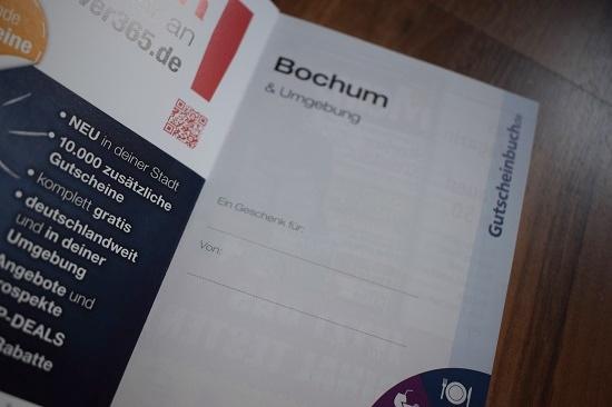 Gutscheinbuch Bochum & Umgebung Innenseite Probenqueen