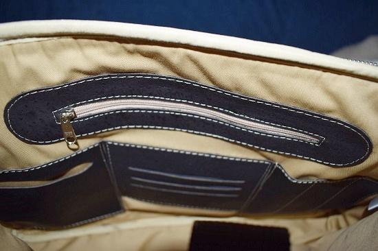 Businesstasche von Tikiwe schwarz Innenansicht Probenqueen