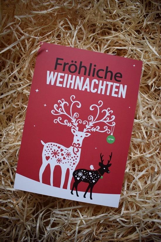 Brandnooz Box Dezember Postkarte Fröhliche Weihnachten Probenqueen