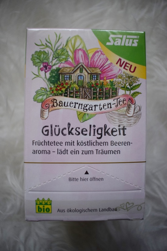 Sanicarebox Eucerin and friends Salus Tee Glückseeligkeit Probenqueen