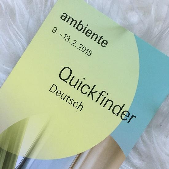 Ambiente 2018 Quickfinder Flyer deutsch Probenqueen