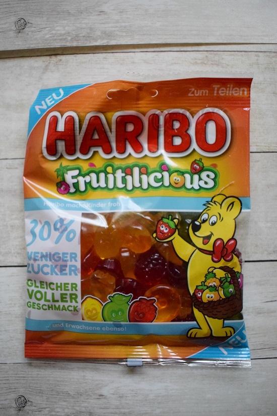 Brandnooz Box Januar 2018 Haribo Fruitilicious Fruchtgummi Probenqueen