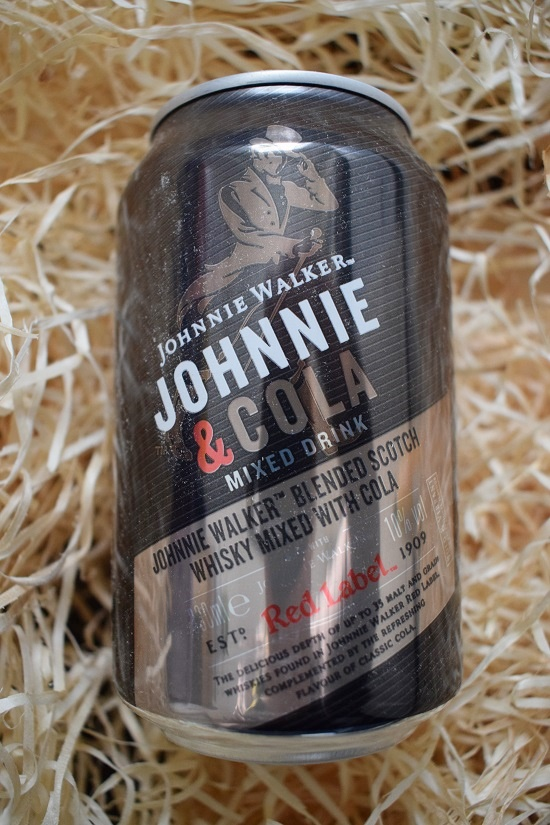 Getränkedose Johnni Walker Red Label mit Cola