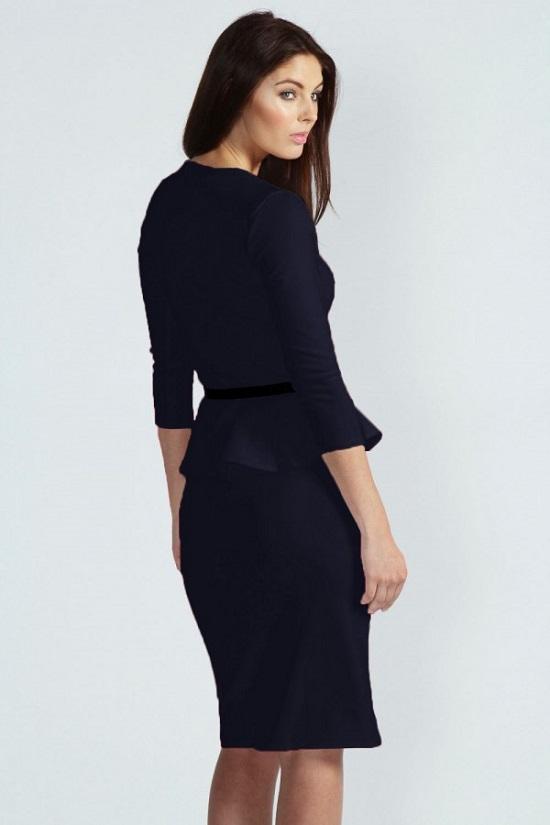 Elegante Abendkleider schwarzes Kleid Rückseite Probenqueen