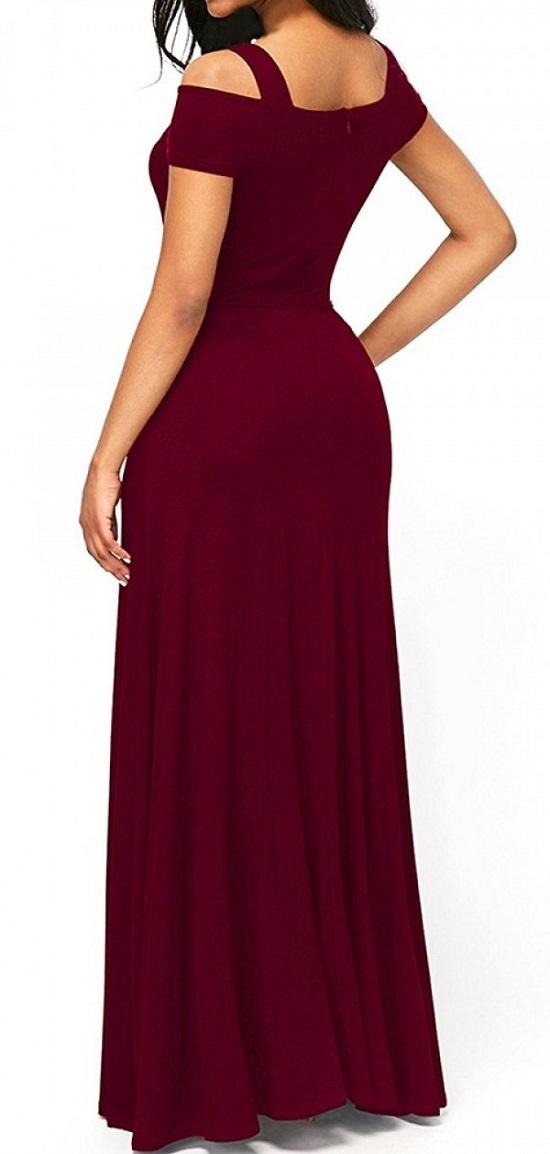 Elegante Abendkleider rotes Kleid Rückseite Probenqueen