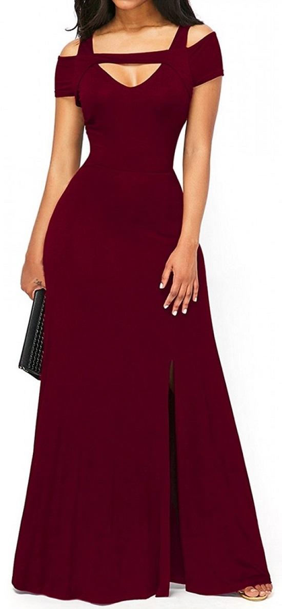 Elegante Abendkleider rotes Abendkleid Vorderseite Probenqueen
