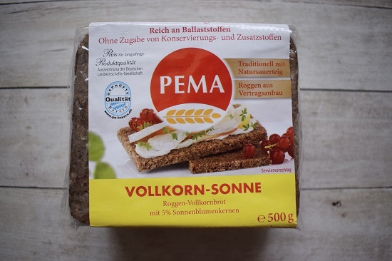 Genussbox April 2018 Pema Vollkorn-Sonne-Brot-Packung Probenqueen