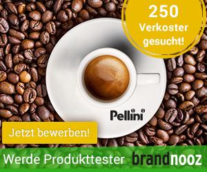 Pellini Produkttester gesucht über Brandnooz Werbebanner auf www.probenqueen.de