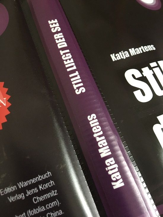 Still liegt der See Edition Wannbuch Cover Rücken Probenqueen