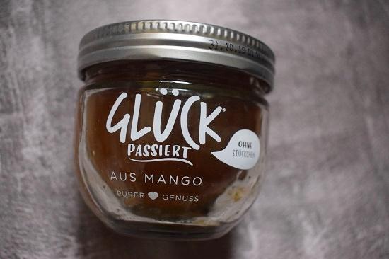 Degusta Box Dezember 2018 Glück passiert Mango Glas www.probenqueen.de