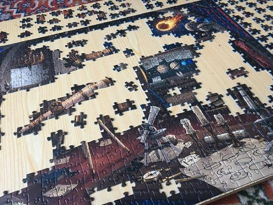 Ravensburger Exit Puzzle halb fertig gestelltes Puzzle